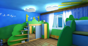 Childroom design in Moscow